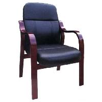 Ghế phòng họp chân gỗ đệm tựa da thật GH01 DA
