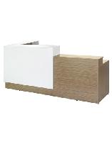Bàn  Quầy lễ tân gỗ QLT02 CN phủ melamine,có hộc nội thất 190