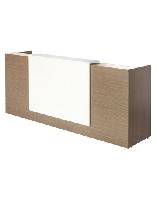 Bàn  Quầy lễ tân gỗ  CN phủ melamine QLT01,không hộc nội thất 190